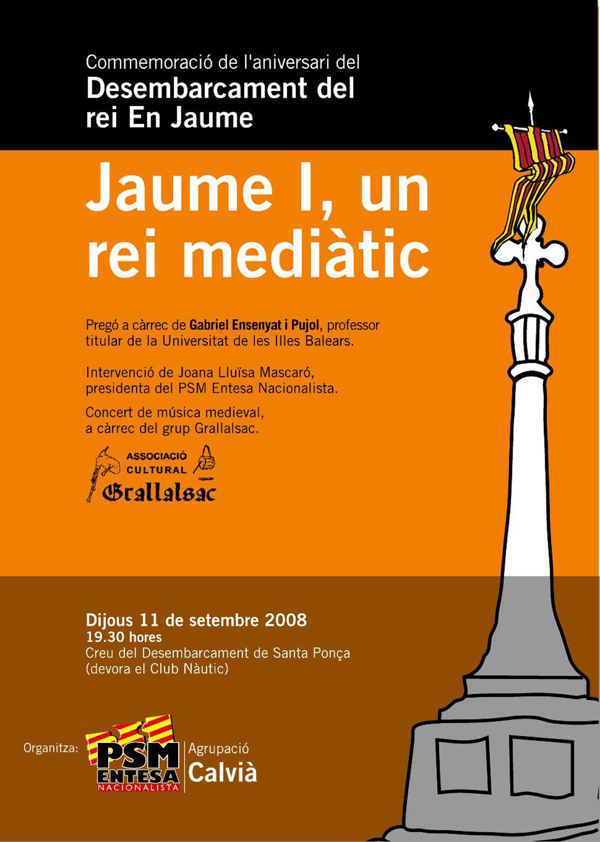 Commemoració desembarcament rei En Jaume 2008